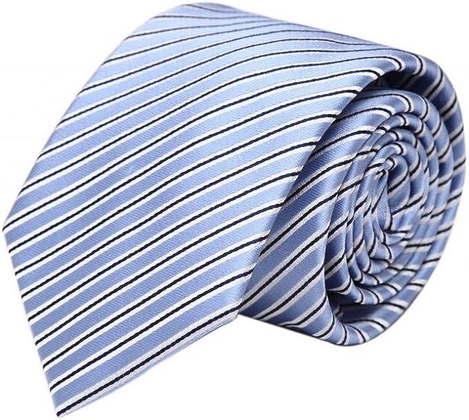 Zavetti - Corbata de seda para hombre, diseño de rayas, color azul ...