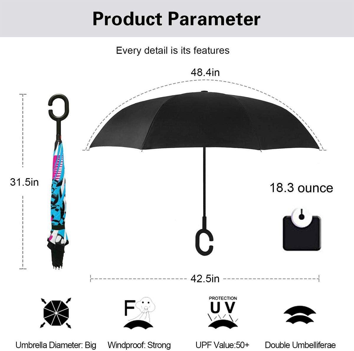 NOT Santa Cruz Car Reverse Umbrella