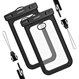 UGREEN 2 Pack Waterproof Phone Pouch Case Dry Bag Compatible for iPhone 11/11 Pro, iPhone X 8 Plus 7 iPhone 6S 6 5 5S 5C, Samsung Galaxy S9 S8 Plus Note 8 S7 Edge S6, Google Pixel 2 XL, Nexus, LG