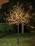 Lightshare™ NEW 8Ft 600LED Frosted Ball City Tree Light,Warm White Light for Home Garden & City Decoration/Wedding/Birthday/Christmas/Holiday/Party Decoration