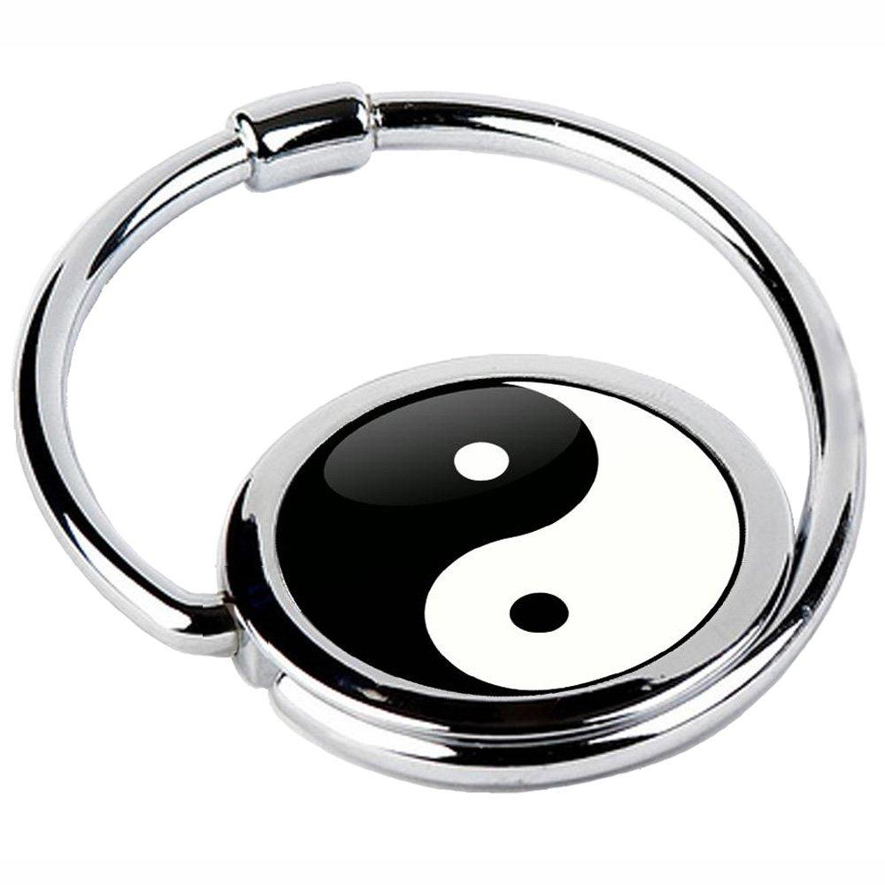 Miss Kha - Accroche Sac Pliable Yin & Yang, Noir, Blanc, Taille unique CIRCLE-37