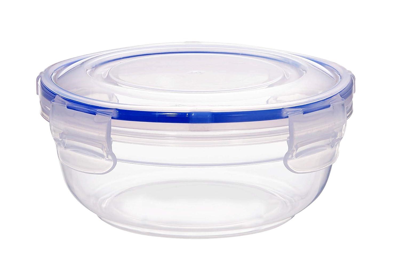 Herm/ético Juego de 8 Plano antifugas sin BPA 400 ml Rodondo Grizzly Contenedores de Almacenamiento de Alimentos con Tapas