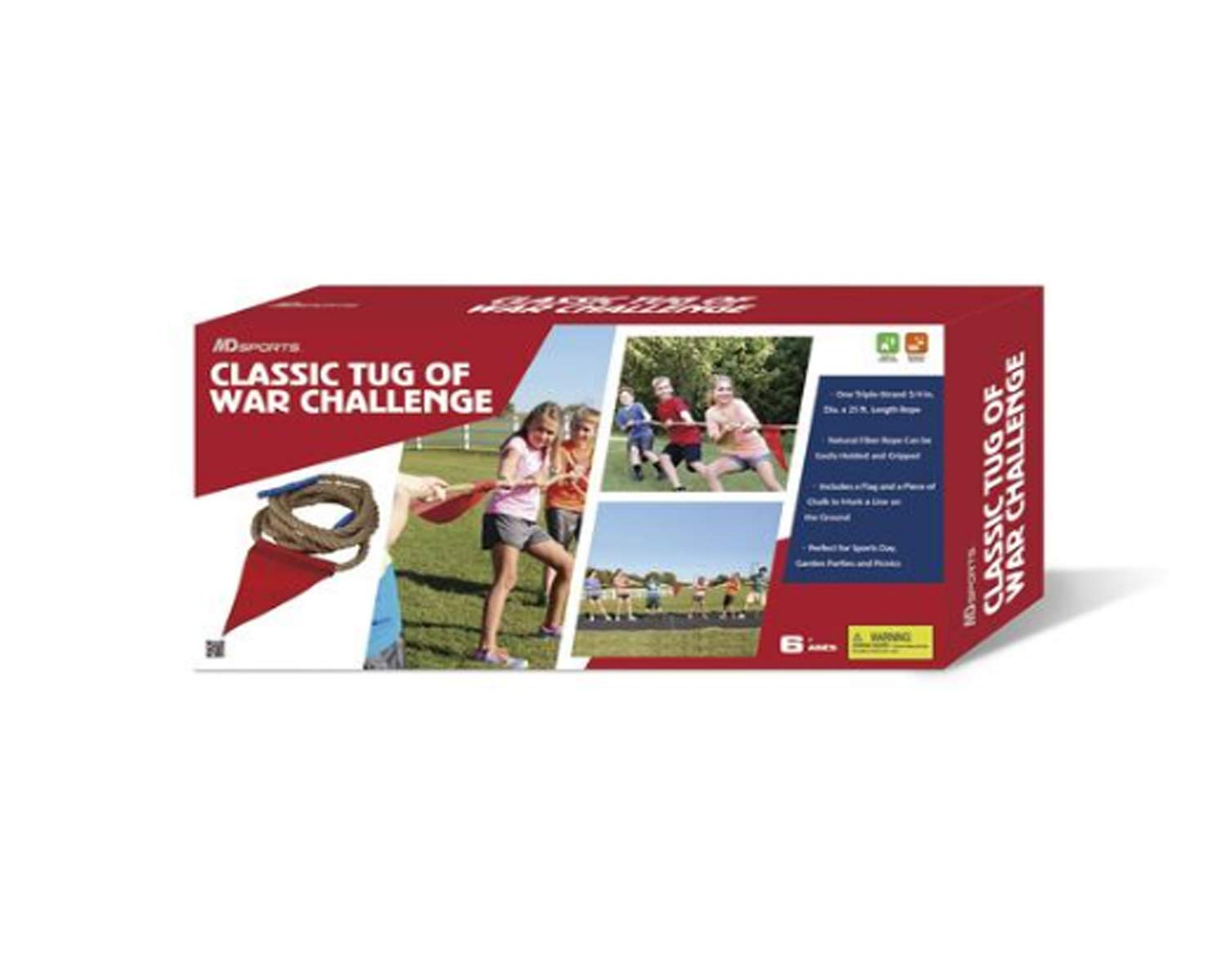 Amazon.com: MD Sports Classic Tug of War Rope Set for Adults ...