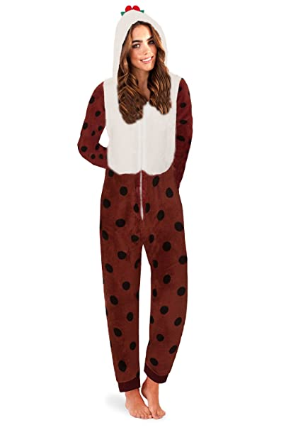 89c302cad8369 Loungeable, Ladies Luxury 3D Novelty Christmas Theme Fancy Dress Onesie  Jumpsuit: Amazon.co.uk: Clothing