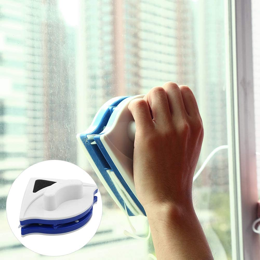 Nettoyeurs de vitres double face Outil de nettoyage dessuie-glace en verre Brosse dessuie-glace de surface en verre utile magn/étique