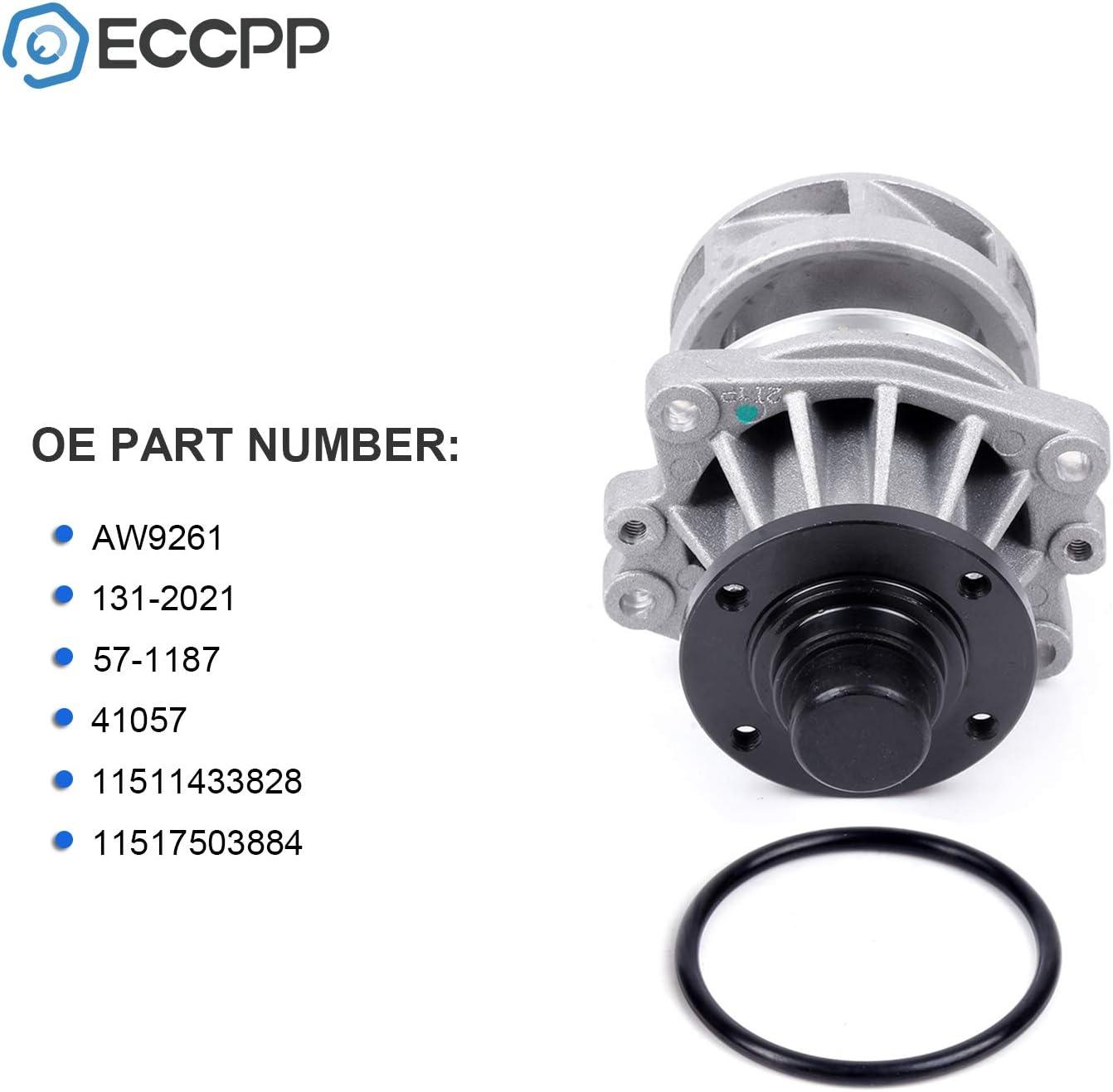 ECCPP Water Pump With Gaskets AW9261 Pump Fit for 1994 1995 BMW 320i,1993 BMW 525iT,1995 1996 1997 1998 1999 BMW M3,2004 2005 2006 BMW X3,2003 2004 2005 BMW Z4