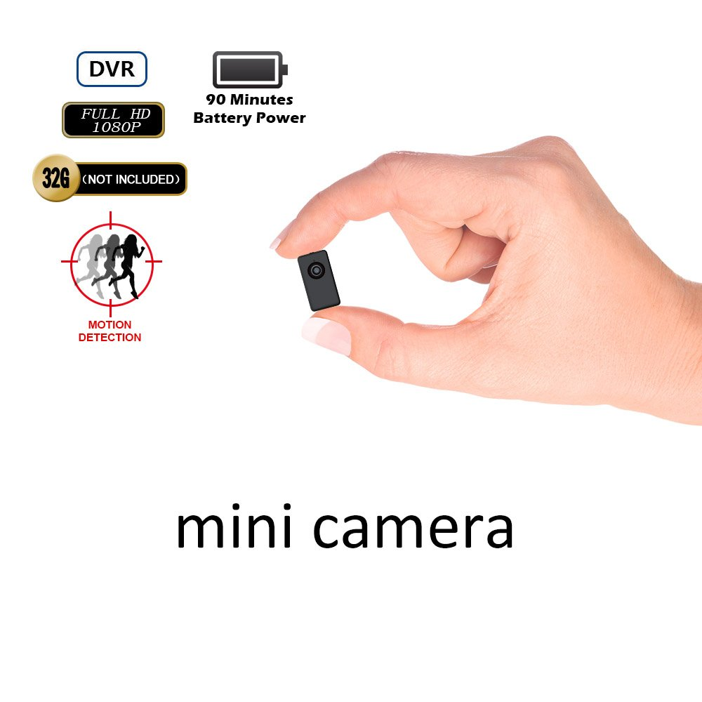 1080P Mini DV Recorder Spy Hidden Camera -BSTCAM 1080P HD Motion Detection Wearable Mini Video Recorder DV Camera Support 32GB SD Card[Not included]