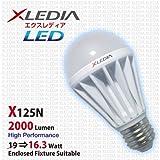 led 125 watt light bulbs - XLEDIA LED Light Bulb X125N A19 125W Equivalent, 2000 Lumen, Cool White, Enclosed Fixture Suitable