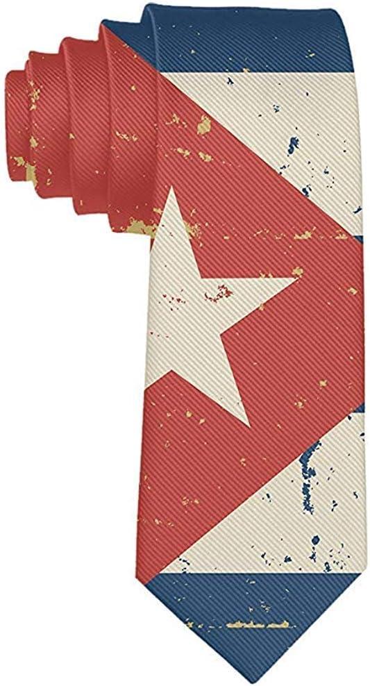 Corbata de bandera cubana retro para hombre Corbata de seda suave ...