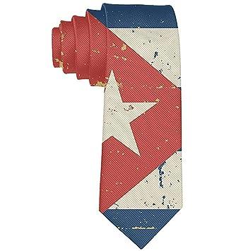 Corbata Retro Con Bandera Cubana Para Hombre Corbata Suave Para ...