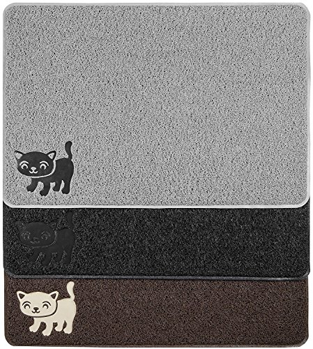 "Smiling Paws Pets Premium Cat Litter Mat, BPA Free, XL Size 35' x23.5"", Non-Slip - Tear & Scratch Proof, Easy to Clean Kitty Litter Catcher with Scatter Control (Extra Large Gray)"