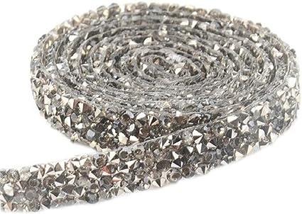 1 Yard Hot Fix Crystal Rhinestones Trim Chain Ironon Hotfix Appliques for Wedding Bridal Dress Belt 10mm