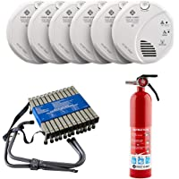 First Alert SCO501CN-3ST Battery Operated Smoke and Carbon Monoxide Detector with Voice Location 6-Pack, with Home Fire…