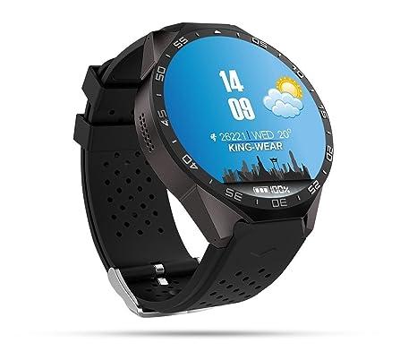 Wosonku Smart Watch 3G, Bluetooth WiFi GPS con Cámara 2.0MP Android 5.1 Monitor de Ritmo Cardíaco 1,39 Pulgadas Pantalla Táctil con Ranura Para ...