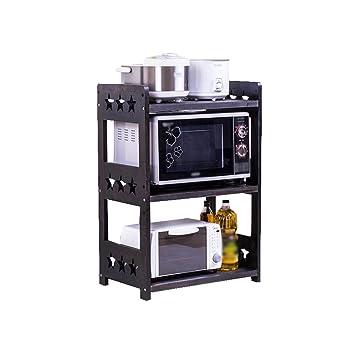 Creatividad multifunción Estantes de Cocina Horno microondas Parrilla Rack para Almacenamiento en Rack Pisos de Madera