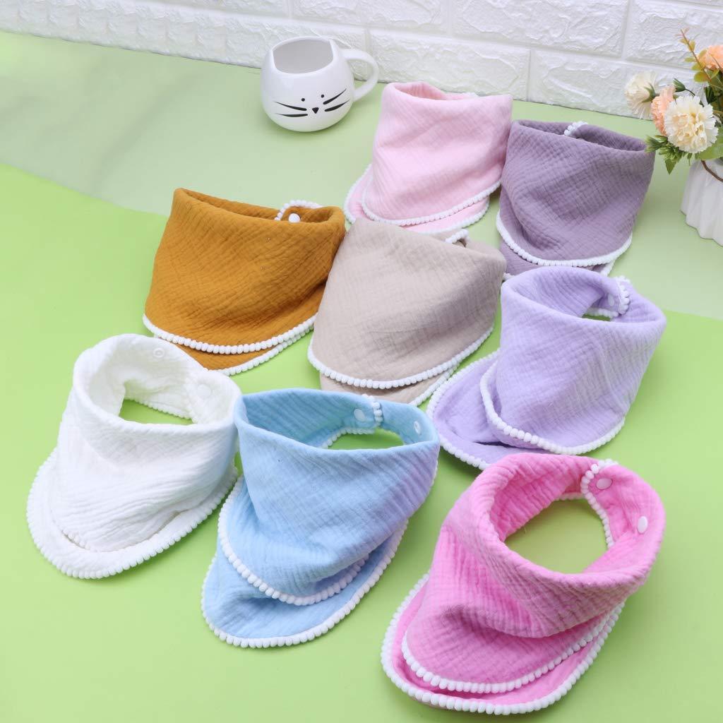 Hacloser Baby Burp Cloths Bibs for Boys Girls Bandana Soft Breathable Muslin Newborns Towel Scarf