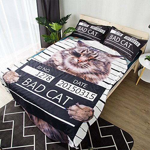 Funny Cat Summer Quilt Air Condition Room Home Textiles 3d Design Comforter Machine Washable Blanket Bedding Home Textiles Children Students Gifts Twin/Full/Queen Size Brushed Polyester
