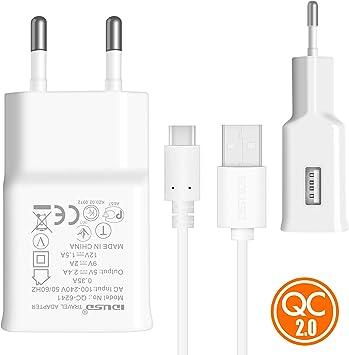 IDUSD Cargador Rápido 18W QC2.0 Cargador USB C para Moviles y ...
