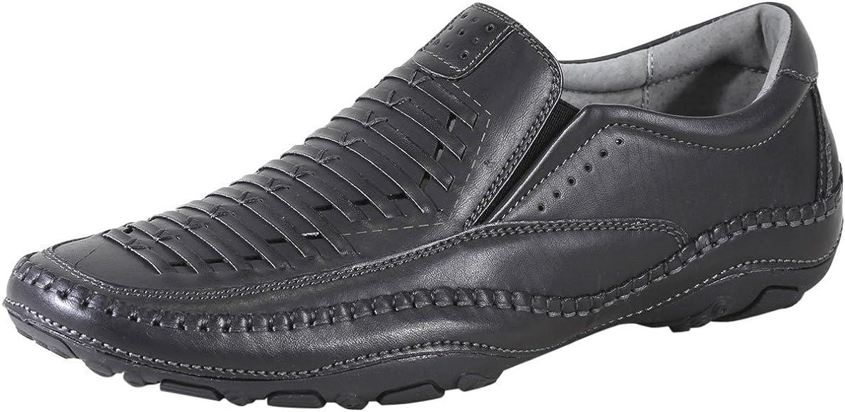 Strike Black Memory Foam Loafers Shoes