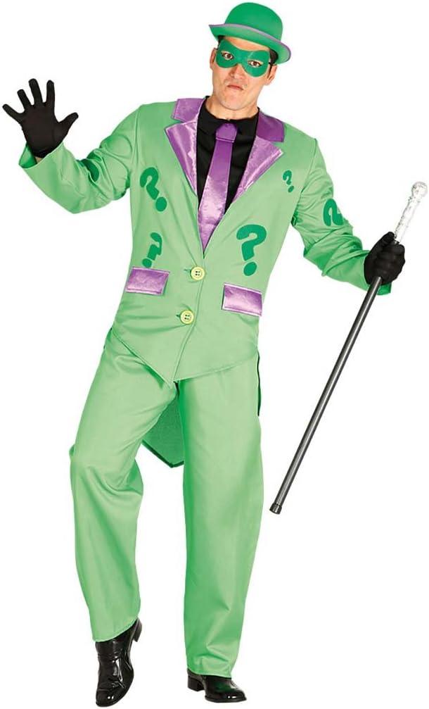 Ropa Carnaval interrogación Disfraz Riddler Hombre M 48/50 ...
