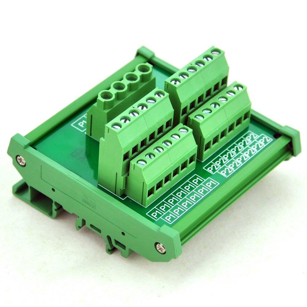Electronics-Salon DIN Rail Mount 12 Position Power Distribution Module.