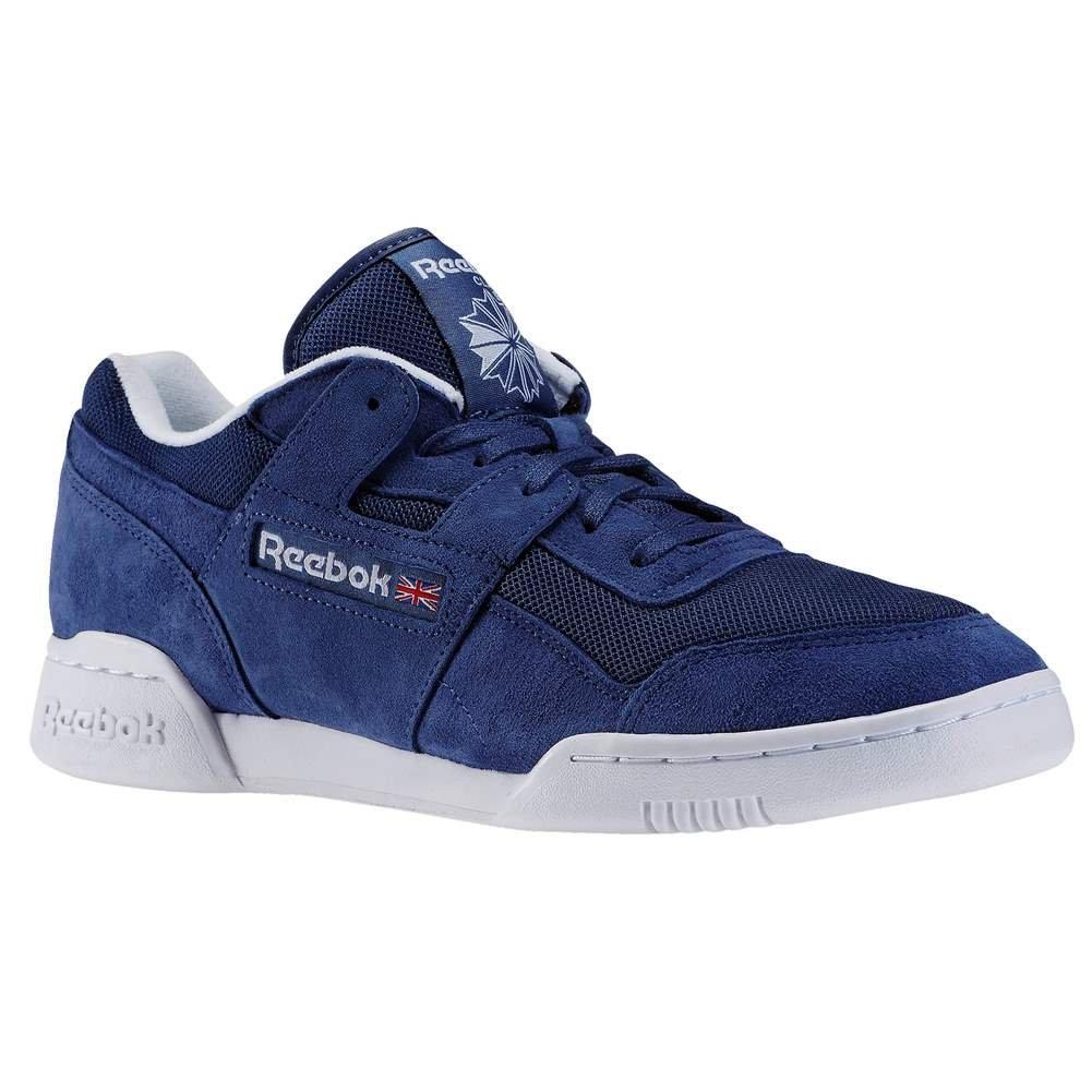 Reebok Workout Plus is, Zapatillas de Running para Hombre 42.5 EU|Azul / Blanco (Midnight Blue/White)