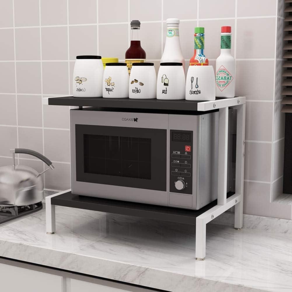 ZXCC Sencillo Cocina Estantería Microondas Encimera, Acero ...