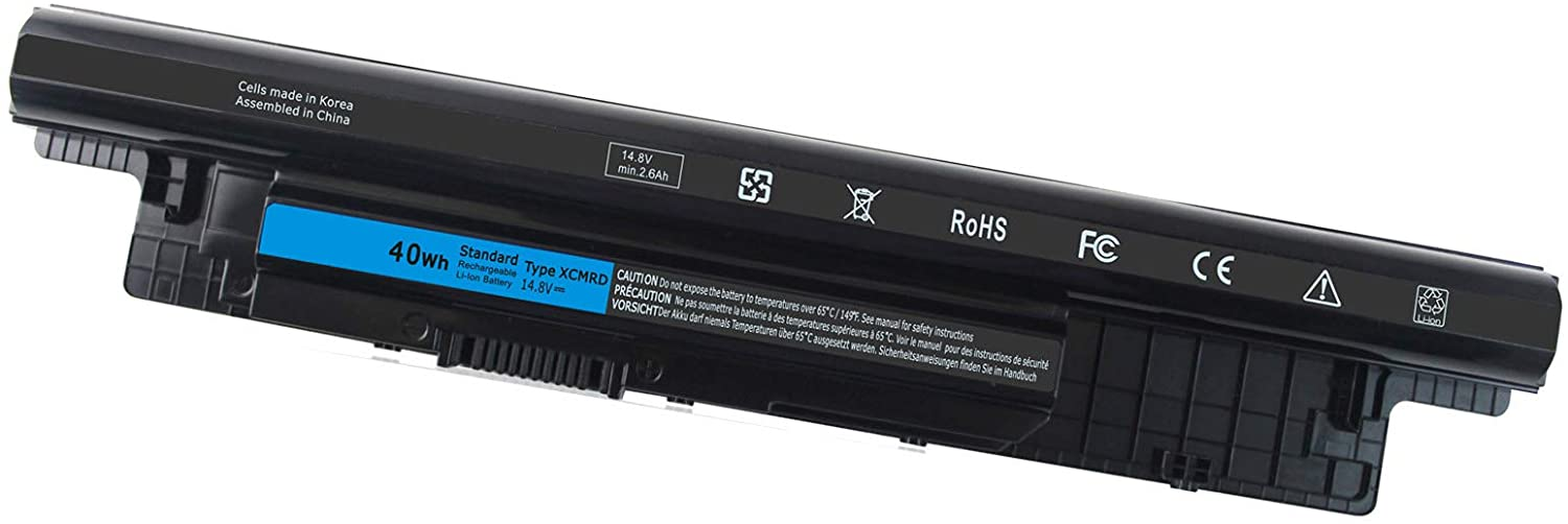 40WH XCMRD 14.8V Battery for Dell Inspiron 15 3000 Series 15 3531 3537 3541 3542 3543 3521 i3531 i3542 i3543 3878 17 3737 3721 15R 5521 5537 17R 5737 Latitude 3540 4WY7C FW1MN V8VNT P28F P26E P40F