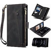 Samsung Galaxy A72 5G Wallet Case, voor Samsung Galaxy A72 5G Crossbody Case, Flip Folio Lederen Cover Rits Portemonnee…