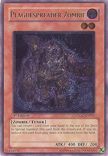 Yu-Gi-Oh! - Plaguespreader Zombie (CSOC-EN031) - Crossroads of Chaos - Unlimited Edition - Ultimate Rare by Yu-Gi-Oh!