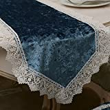 Table Runners Simple fabric table flag lace coffee table table runner western restaurant table flag-A 35x210cm(14x83inch)