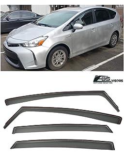 EOS Visors For 88-91 Honda Civic Wagon JDM Tape On Side Window Rain Deflectors