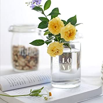Amazon Transparent Glass Vase Small Mouth Small Hole Flower