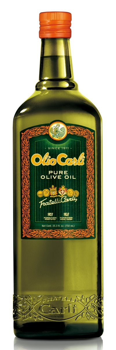 Olio Carli Pure Olive Oil. Twelve 3/4 Liter (25 oz.) bottles.