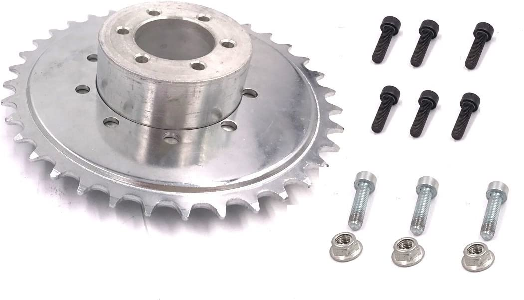 BOLTS UP 80cc HUB ADAPTER USE STOCK 44 TOOTH SPROCKET THAT IS IN ENGINE KIT
