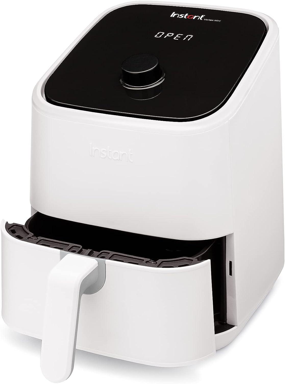 Instant Vortex Air Fryer Oven, 4-in-1 Oil-Less Cooker, Roaster, Toaster, Crisper, Dehydrator, Warmer, 2-Quart, White