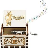 Mini caja de música de manivela para mujer, diseño de piratas del Caribe – Caja de música de madera envejecida tallada para bebés, niños pequeños, cumpleaños, regalo de Navidad (4 temas)