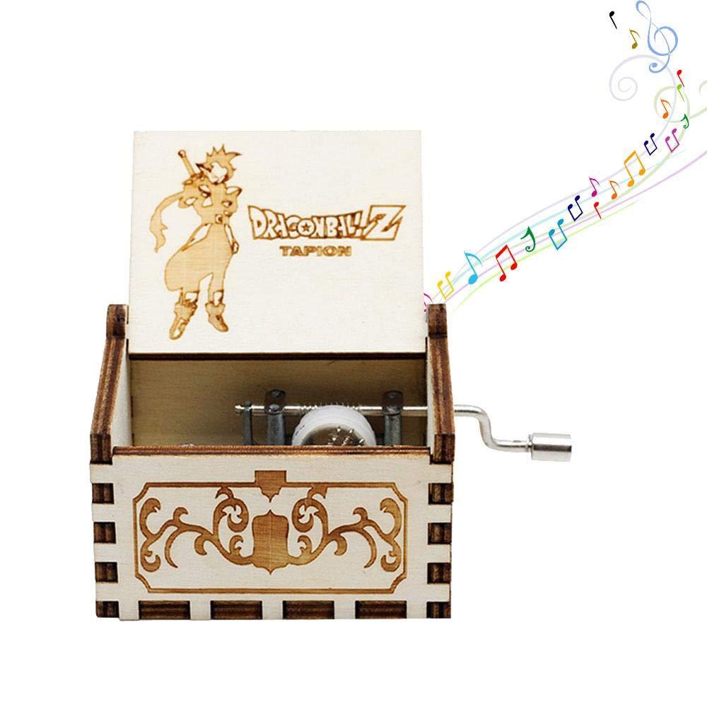 AOLVO 8Note meccanismo a manovella Carillon in Legno Intagliato con Carillon Regali Beatles Music Box