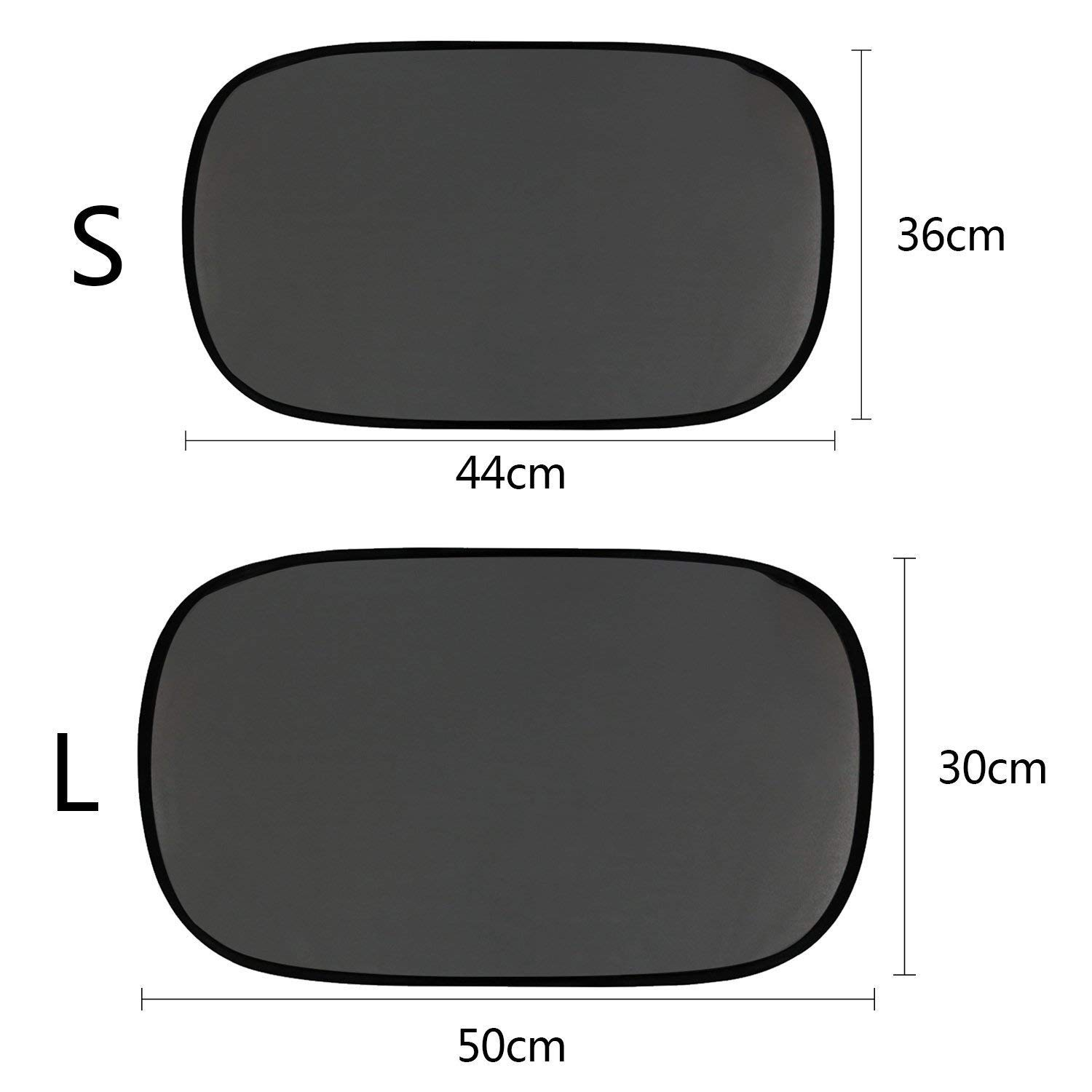 50 * 30cm // 44x36cm Large SAVORLIVING Car Window Shade UV Ray Protector Sunshade for Side//Rear Window Easy to Install Mesh Material Best Protection for Your Baby//Kids//Pets 2 Pack