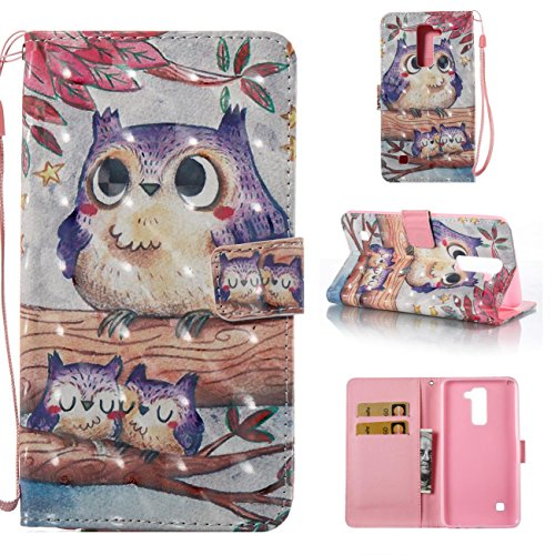 Fan Flip Bird - Lg Stylo 2 Case,PU Leather Shock Absorbent Case with Inner Rubber Bumper Protective Cover Fashion Kickstand Flip Folio Book Case Cover for Lg Stylo 2/Lg Stylus 2/Ls775-Bird