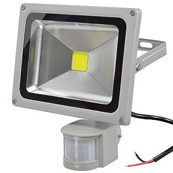 GLW Proyector del Sensor de Movimiento LED 20W12V AC o DC Luz de Seguridad a Prueba ...