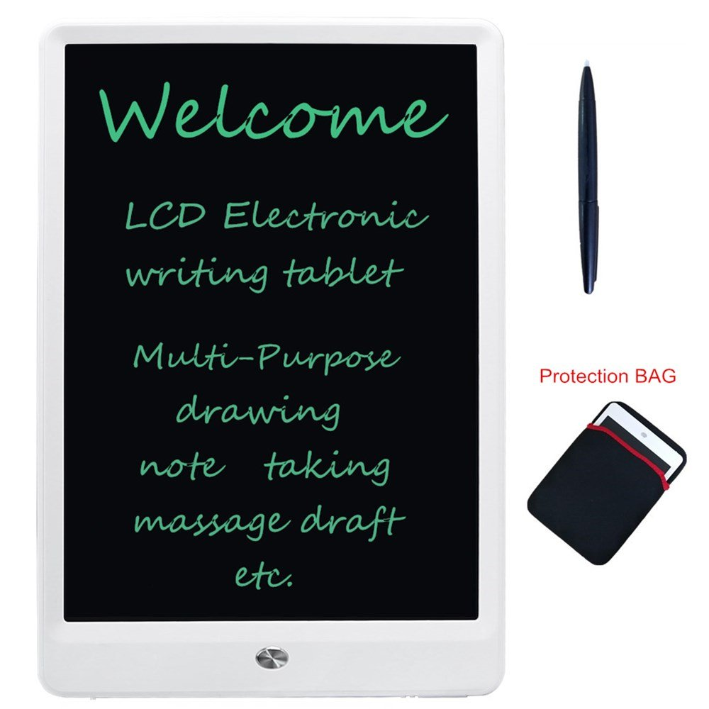 LCD Writing Tablet 10-inch Portable LCD Writing Board Can Be Used As Drawing Board Bulletin Board Family Note Daily Planner Learning Tools Gift For Kids Student Office Worker, White