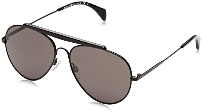 Tommy Hilfiger Gafas de sol TH 1454/S NR Black, 58: Amazon ...