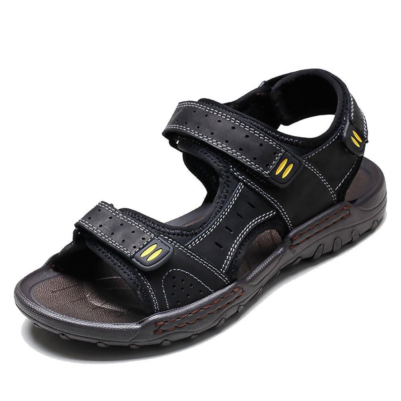 LEDLFIE Sommer Sandalen Outdoor Strand Schuhe Openwork Freizeitschuhe Black 38LEDLFIE Sandalen Openwork Freizeitschuhe Black 38