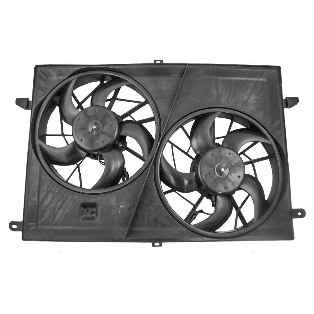 Dual Radiator And Condenser Fan Assembly Cooling Buick Enclave Parts Diagram Direct For Fit Gm3115219 08 17 09 Chevrolet Traverse 07 Gmc Acadia 10
