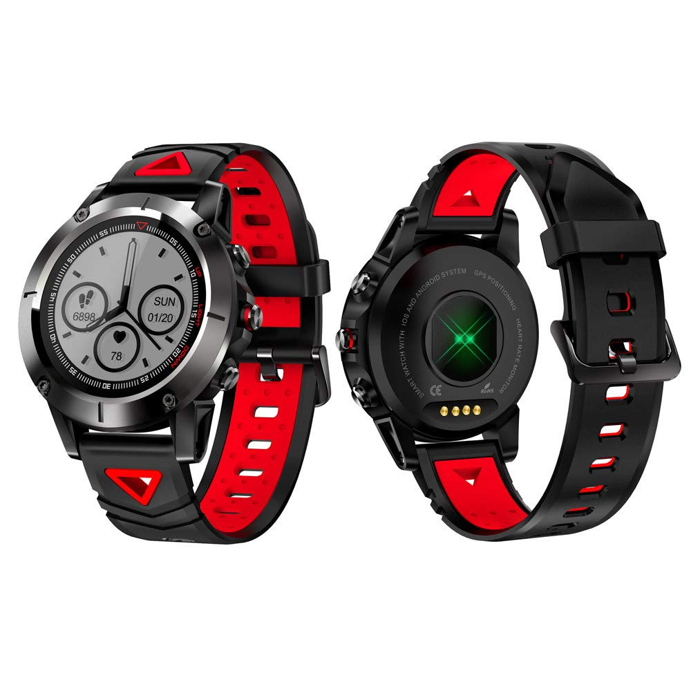 Cywulin Fitness Tracker IP68 Waterproof Smart Watch Wristband Activity Tracking Bracelet Heart Rate Sleep Monitor Pedometer Calories Step Counter iOS Android Men Women Kids Outdoor Sport (Red)