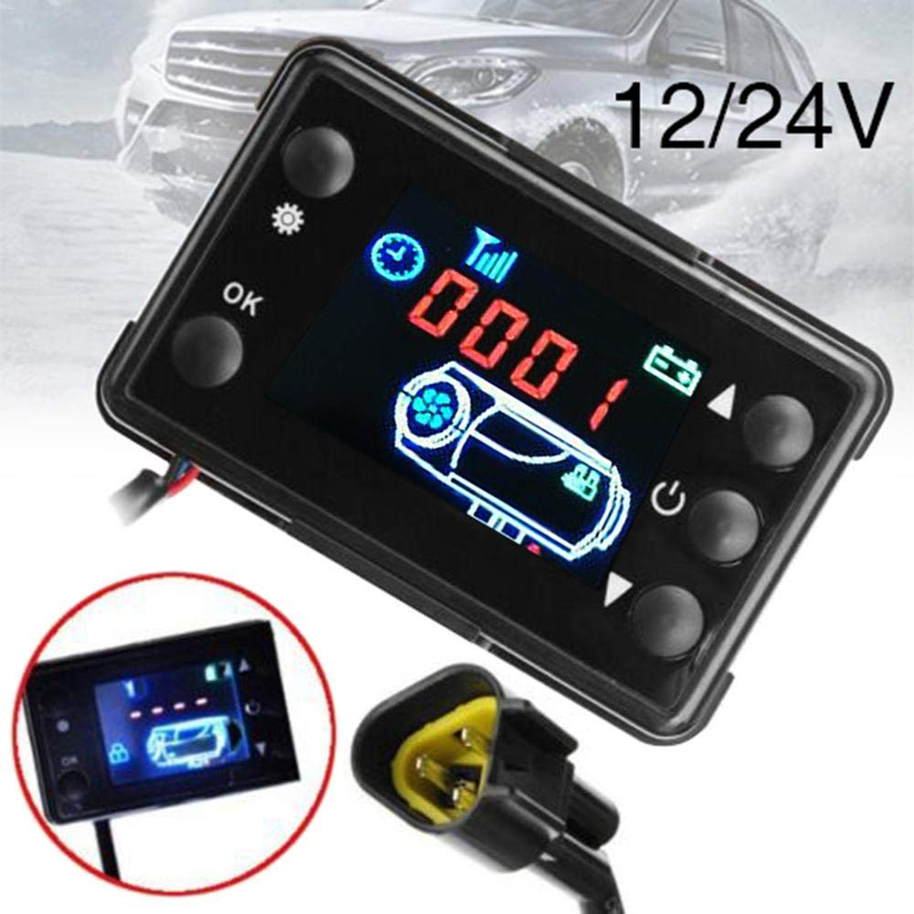 Thrivinger Heater LCD Monitor Switch And Remote Controller,With Control Button Function Fuel Filling Manual Mode//Ergonomically Timing Start Designed Ideal For 12V 24V Parking Heaters
