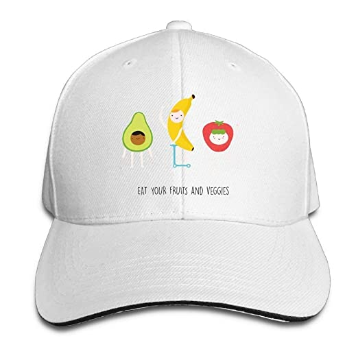 Image Unavailable. Image not available for. Color  Eat Your Fruit and  Veggies Cap Unisex Low Profile Baseball Hat 110444e72b7a