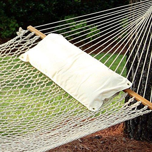 (Hatteras B-11 Artist - Chambray Natural - Traditional Hammock Pillow)
