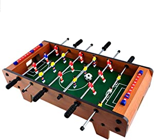 MAQLKC Foosball Table Competition Easily Assemble Wooden Soccer Game Table Top W Footballs Indoor Table Soccer Set for Arcades Game Room Bars for Adults and Kids